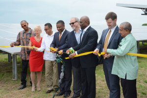 June 22, 2017 Ribbon-cutting ceremony at Content Solar, Jamaica